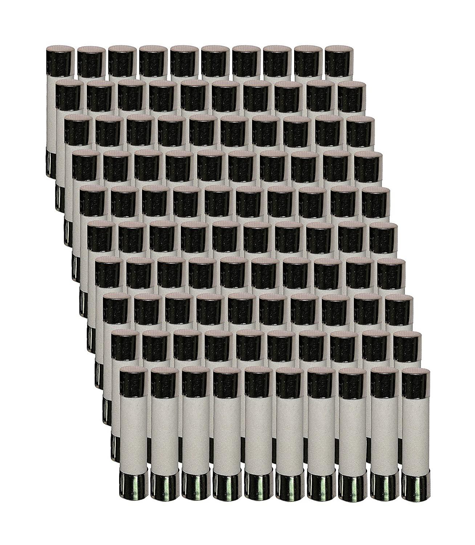 100 Qty. Divine Lighting ABC 10A Fast-Blow Ceramic Fuse 10 Amp 250v ABC10A; ABC10 ABC 10A Fast-Blow Fuse (Also 3AB); Ceramic 1/4 in x 1.25 in