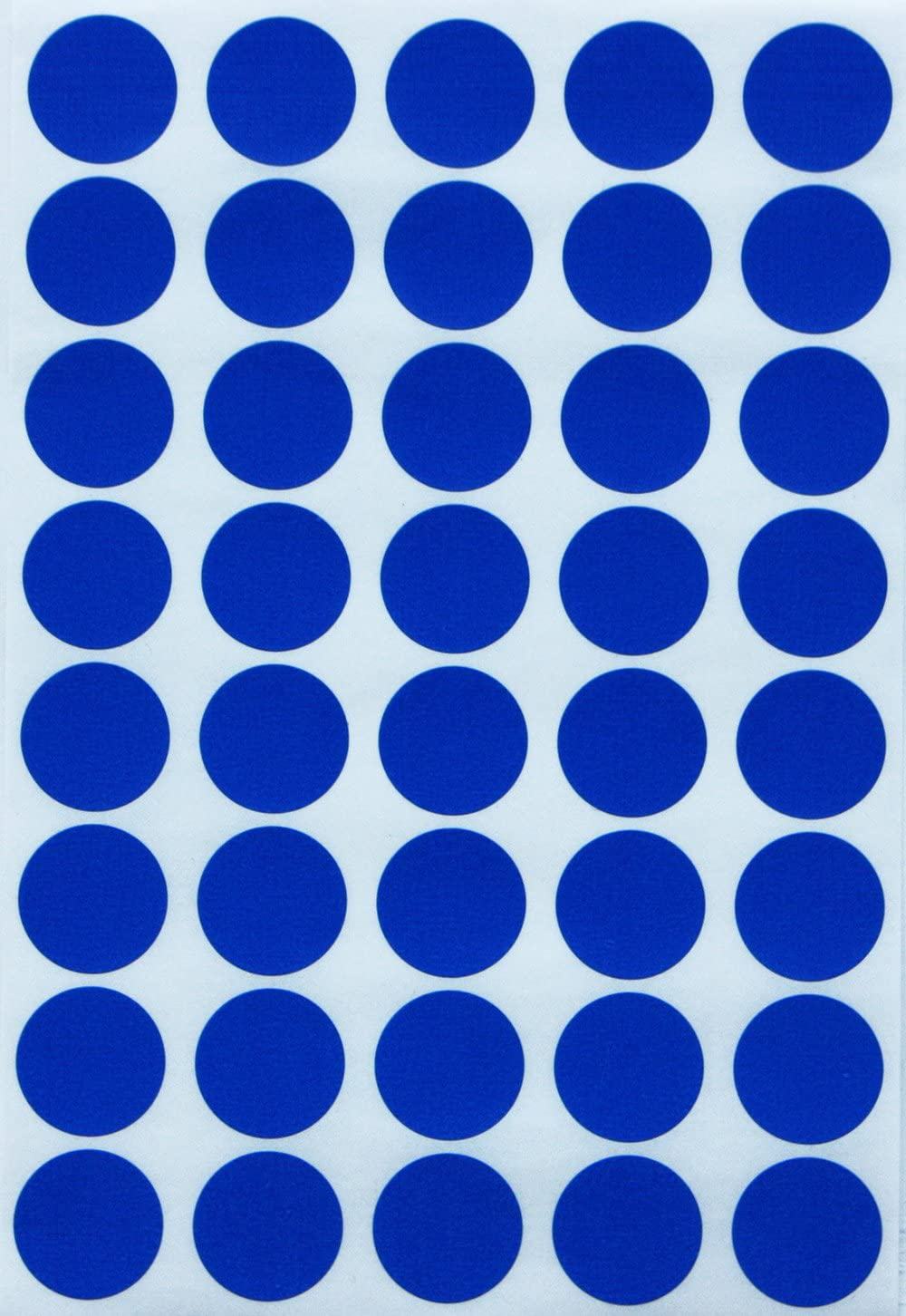 Royal Green Dot Sticker Colored Labels - Round Stickers in Blue 19mm ¾ inch - 1000 Pack
