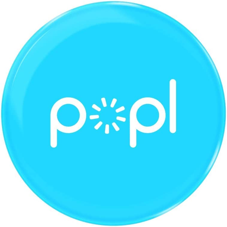 Popl (Blue) Digital Business Card and Phone Accessory - NFC Tag That Instantly Shares Social Media, Contact Info, Music, Payment Platforms and More - Compatible with iOS and Android