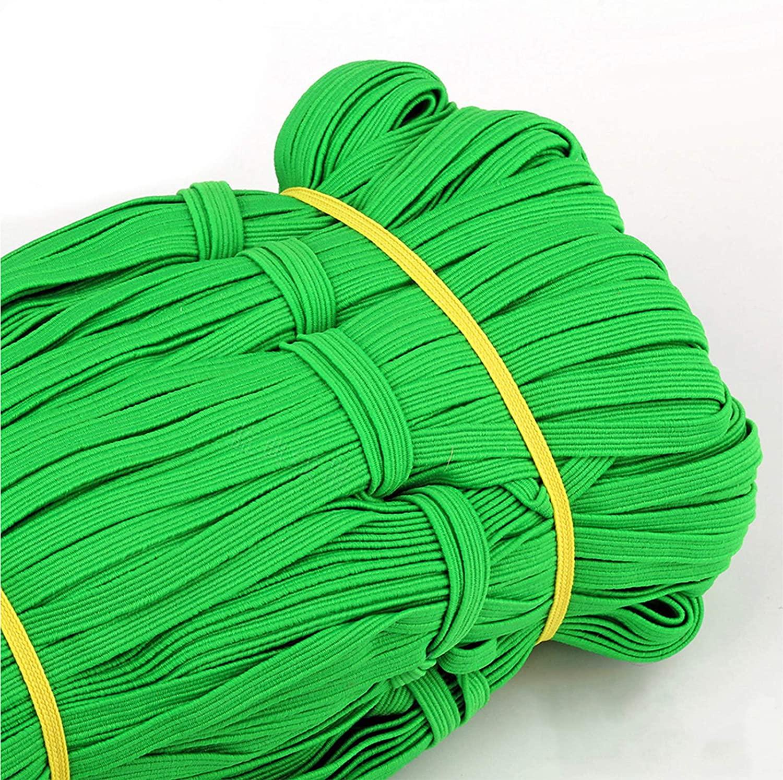 33 Yards Length 1/4 Inch Width Briaded Elastic Band,Elastic String Cord Heavy Stretch High Elasticity Knit Elastic Band for Sewing Craft DIY Color #3