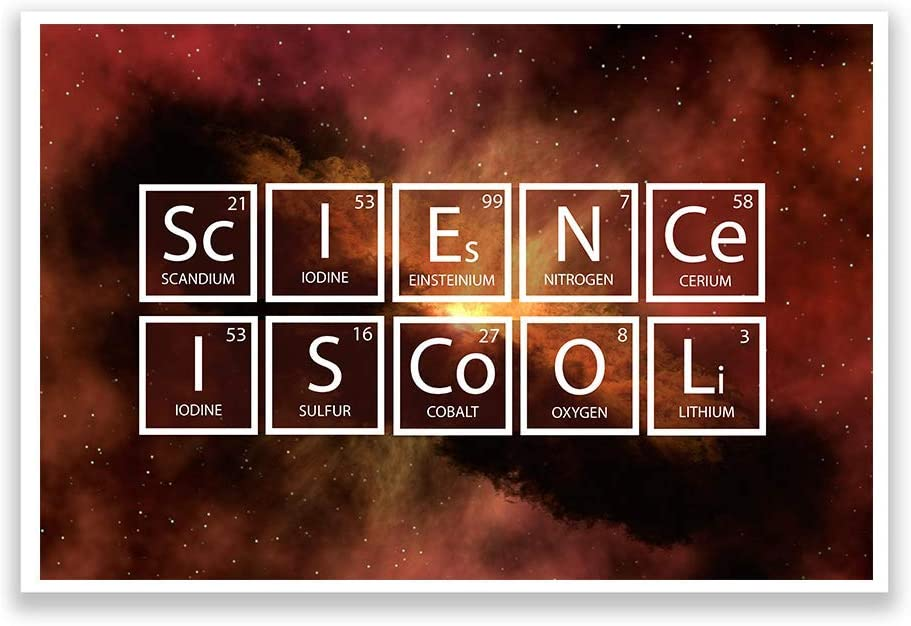 DHDM Designs Classroom Poster Science is Cool Print   Unique Posters for Classrooms   12-Inch by 18-Inch   Science Class Posters JSC818