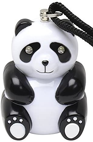 Vigilant PPS-80 Panda Personal Alarm with Dual LED Flashlight and Rip Cord Activation Strap