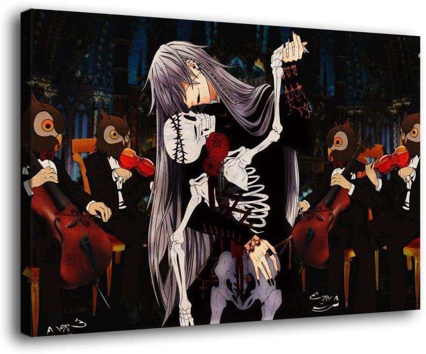 ZHANGWEI Black Butler Poster Japanese Cartoon Canvas Art Posters for Room Aesthetic Living Room Wall Art Picture Print Bedroom Decor