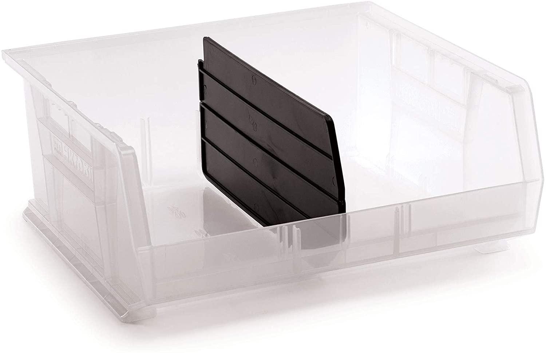 AkroBin 30250 Semi-Clear 7 x 16-1/2 x 14-3/4 Bundle with Length Dividers