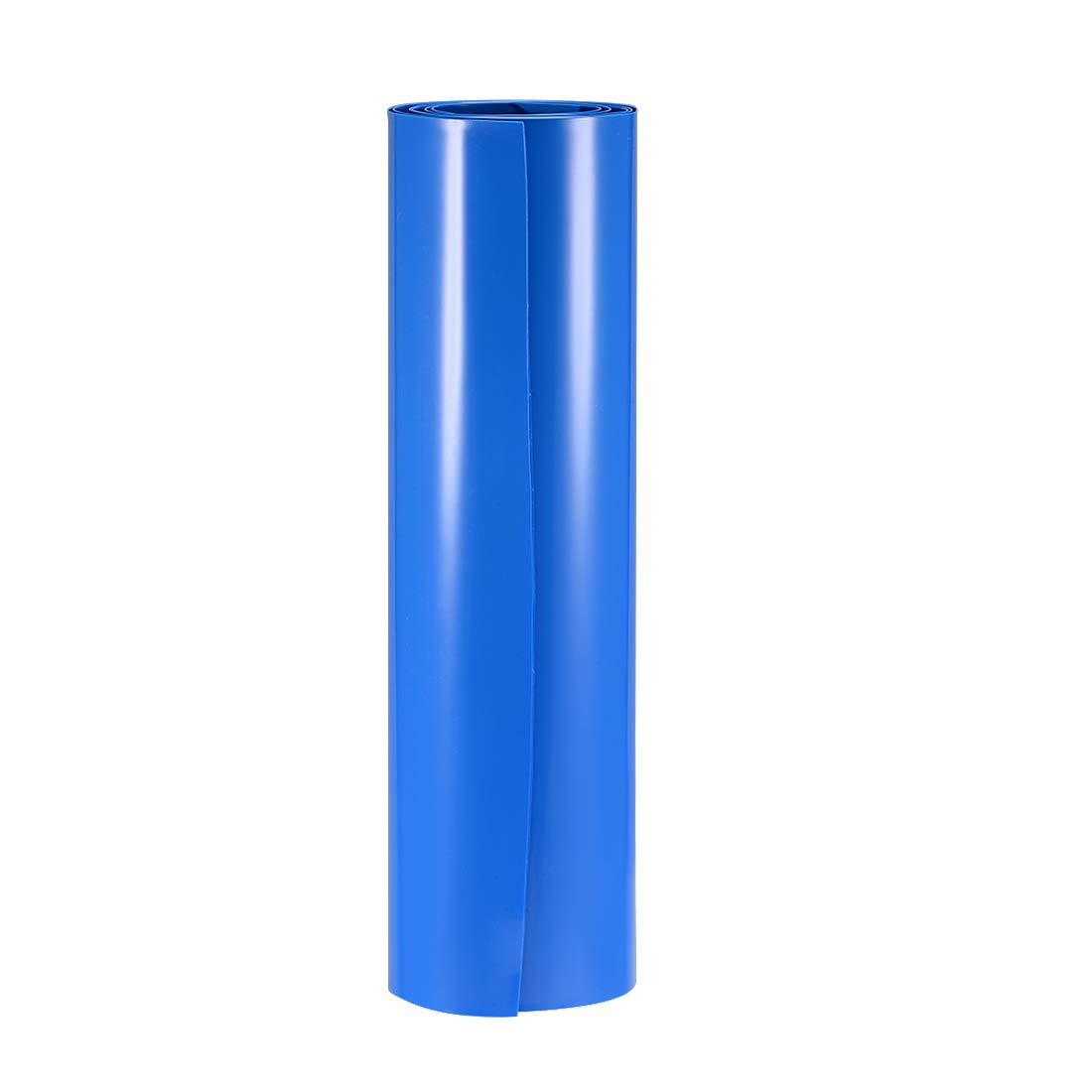 uxcell Battery Wrap, 250mm Flat Width 158mm Dia 1m PVC Heat Shrink Tube Wraps for Big Battery Pack Blue