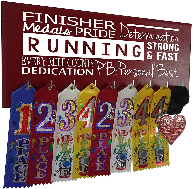 Running On The Wall Medal Display - Mutli Word - Personal Best - Race Medal Holder - Marathon Medal Hanger