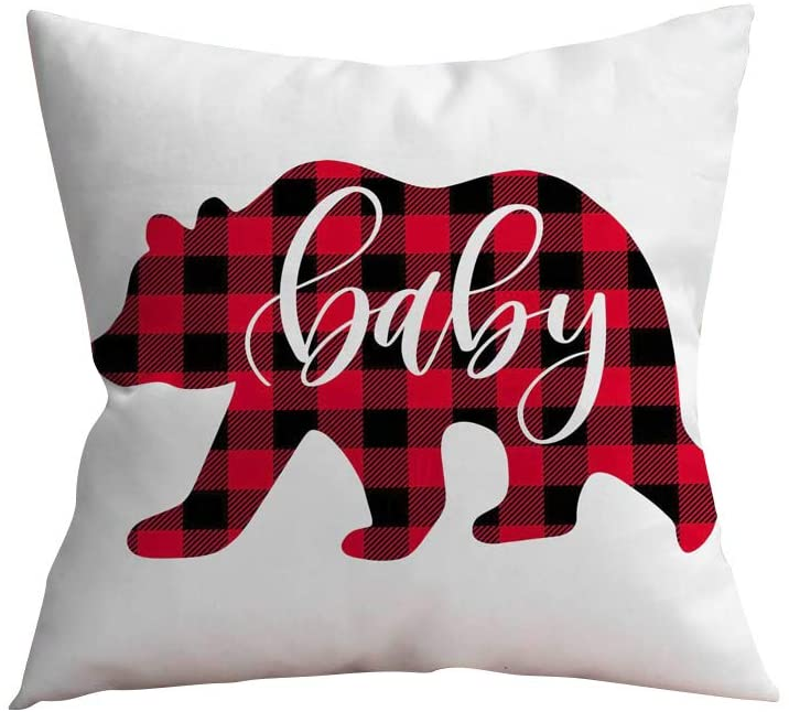 Ounabing 18X18 Inch Christmas Fall Throw Pillow Covers Cushion Case for Home Decor Sofa, Couch, Bed and Car,Living Room,Breathable and Super Soft Pillowcase
