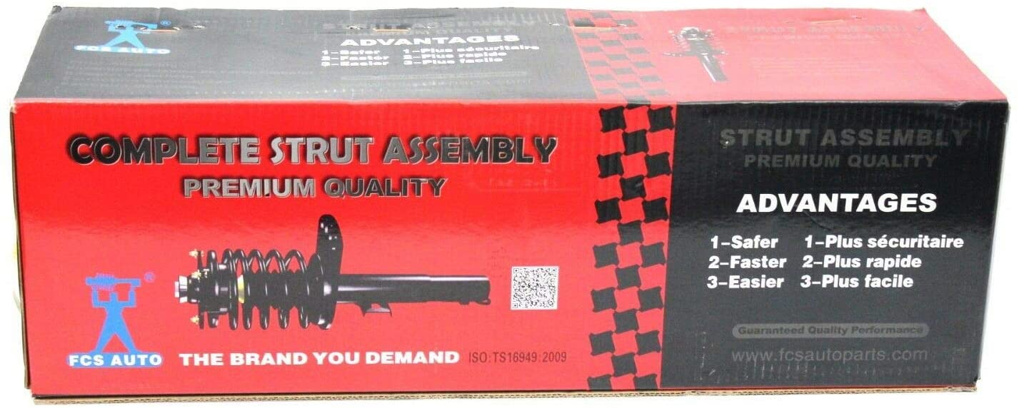 2001 for Chevrolet Cavalier Rear Premium Quality Suspension Strut and Coil Spring Assembly - One Year Warranty