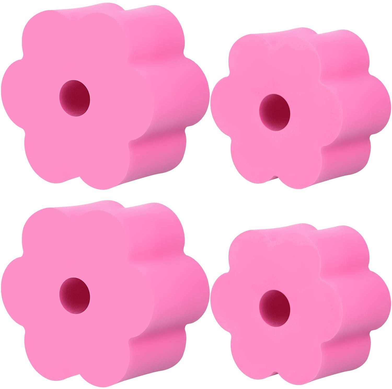 Cup Turner Foam Set, 4 Pieces Tumbler Foam for 1/2 Inch PVC Pipe, Tumbler Spinner Foams Fit 30 oz 20 oz 10 oz Tumbler Bottles Cups (Pink)