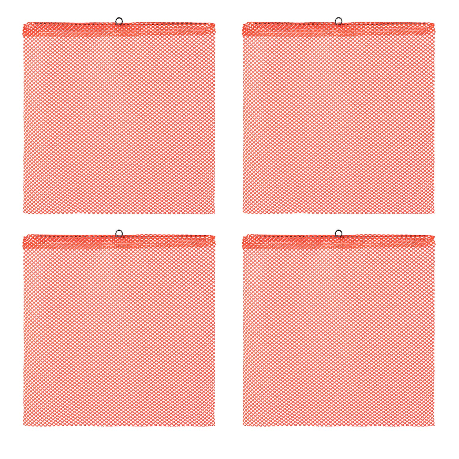 BISupply Towing Safety Flag - 18x18in Trailer Safety Flags for Truck Cargo and Pedestrian Crossings, 4Pk Orange Flags
