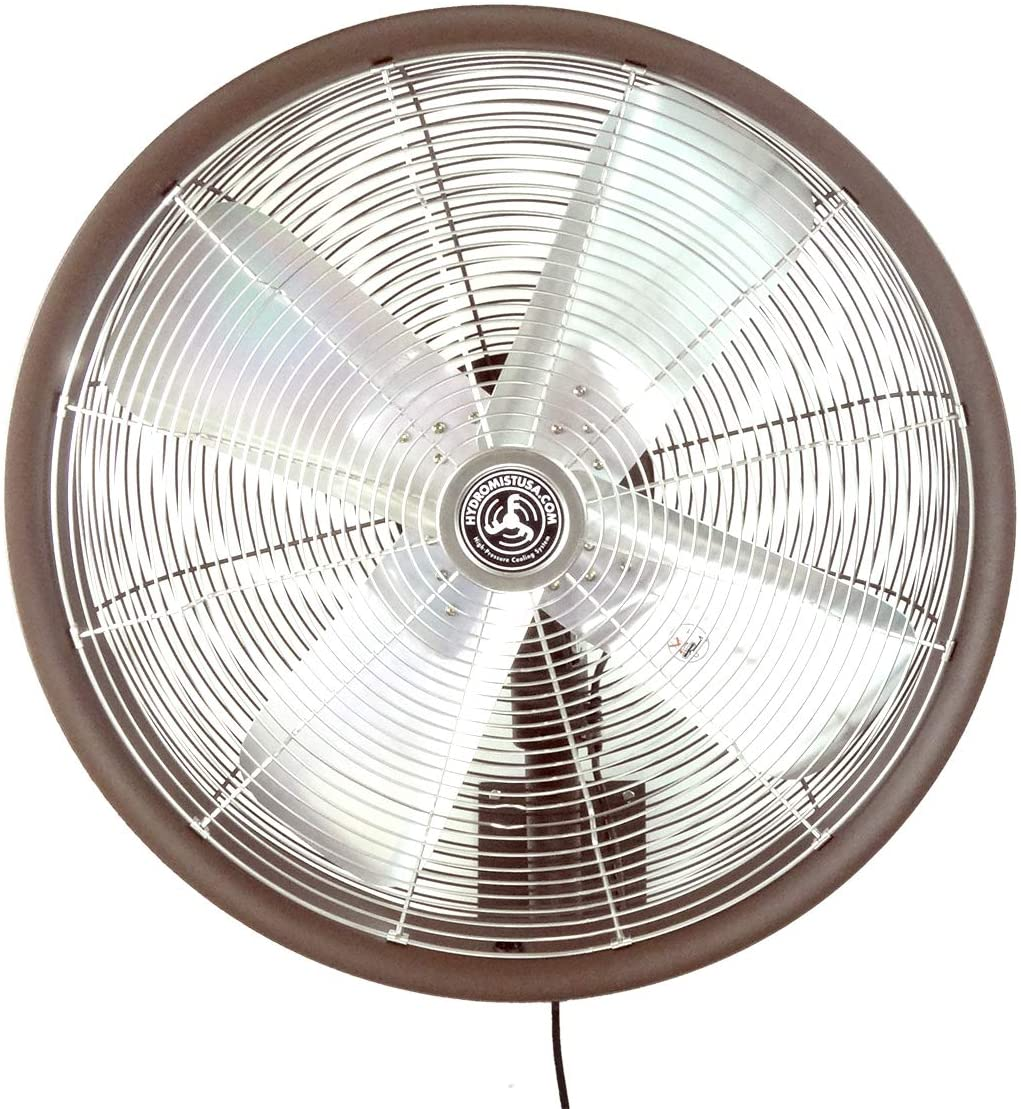 HydroMist F10-14-024 Outdoor Fan, 24 Inch, Dark Brown