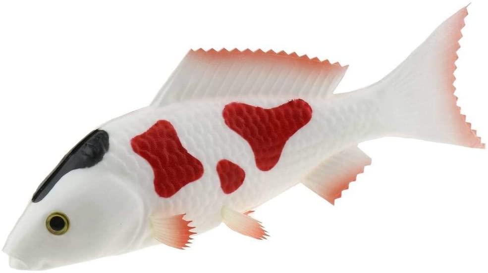 Gresorth 9 inch Artificial White Carp Decoration Fake Fish Animal Toy Home Kitchen Shop Restaurant Model Display