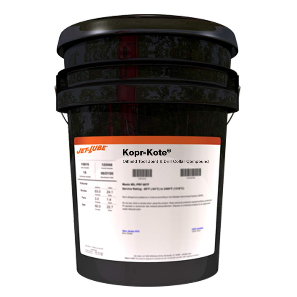 Jet-Lube Kopr-Kote (Oilfield) - Tool Joint I Drill Colar Compound I Premium Grease I Contains Copper Flakes I High Temperature | 5 Gal.
