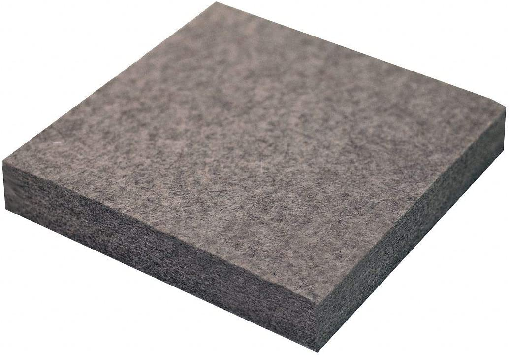 Felt Sheet, F3, 3/4 In Thick, 12 x 12 In