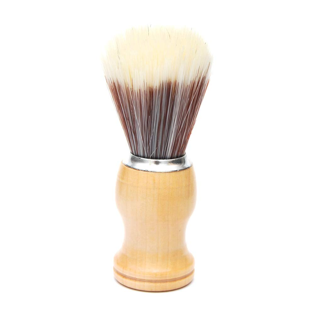 Luxxii - Men's Shaving Brush with Wooden Handle Pure Big Nylon Hair Soft Face Cleaning Makeup Facial Razor Brush Shave Tools