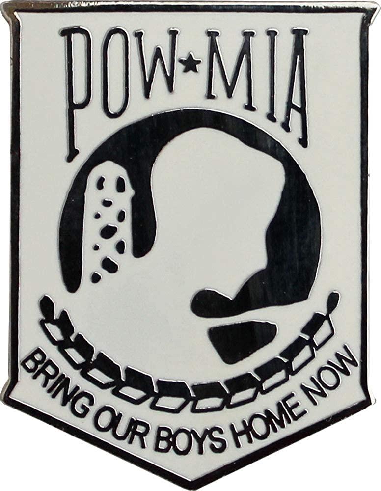 POW-MIA - Single Lapel Pin (White)