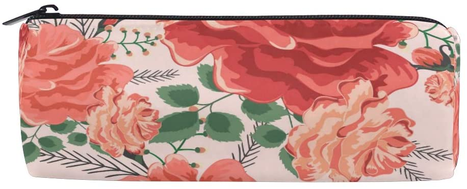 Flowers Pencil Case Office Pencil Holder Pouch Bag Pen Pencil Stationery Cosmetic Bag