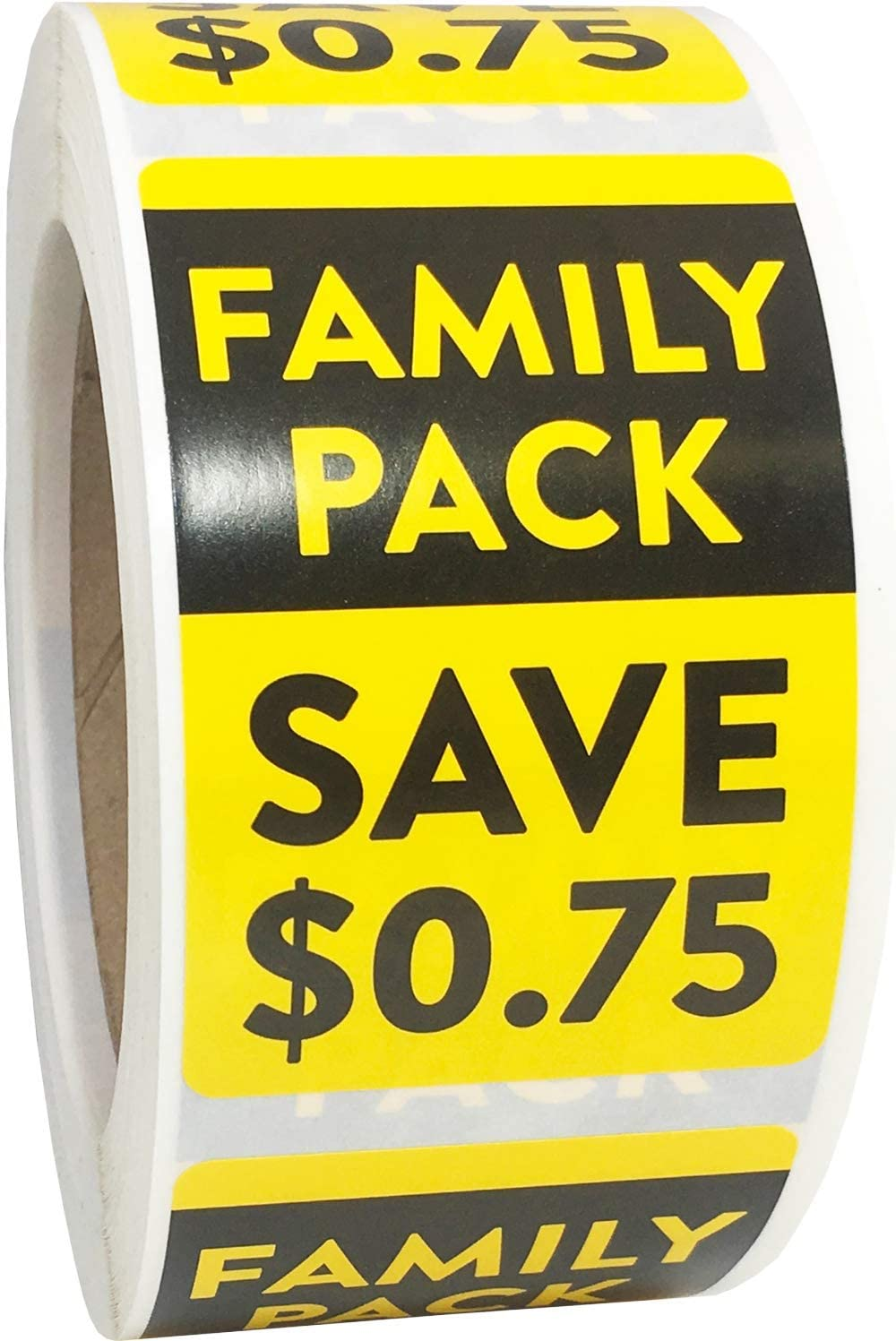 Family Pack Save $.75 Grocery Store Food Labels 2 x 3 Inch 500 Total Adhesive Stickers