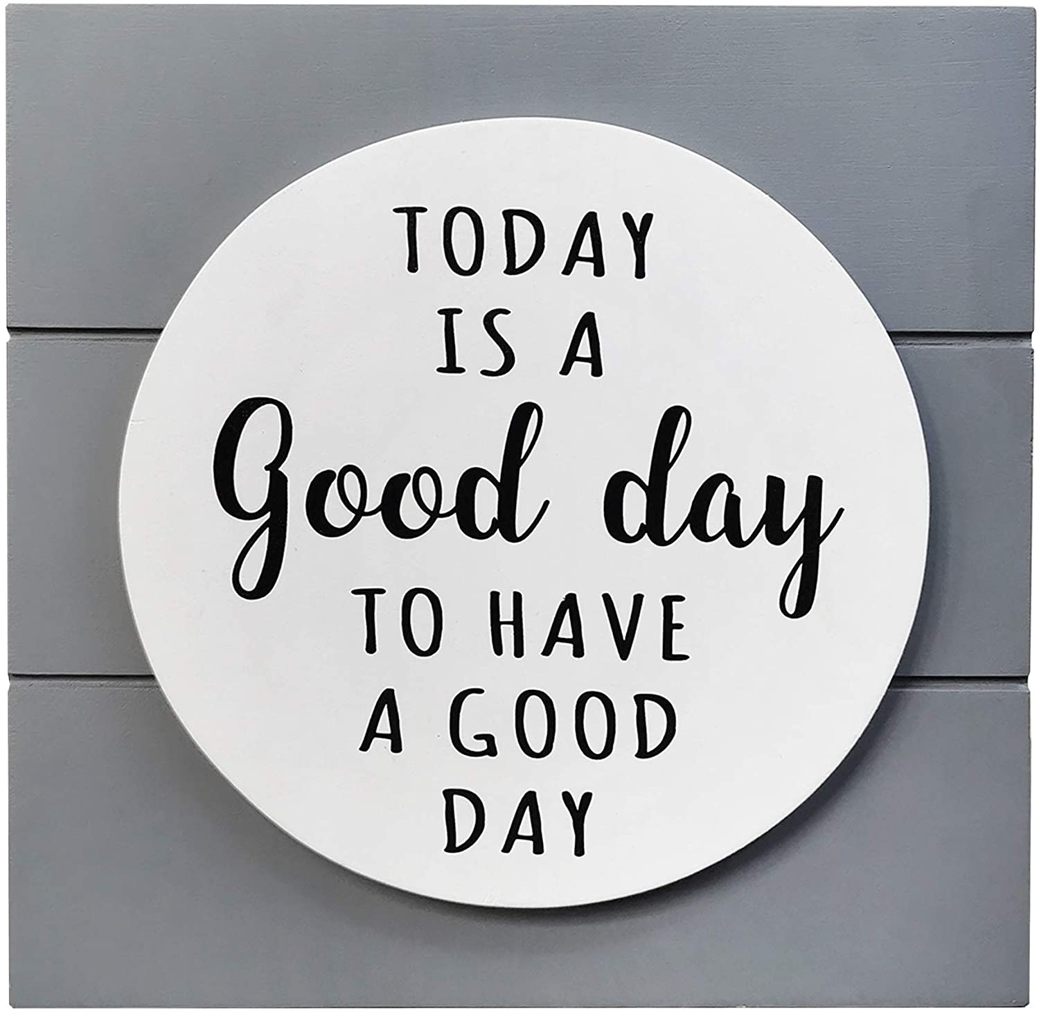 NITYNP Today is A Good Day Wall Art Decor, Hanging and Standing Desk Block Sign 7.8