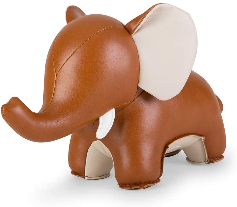 Zuny, Zuny Series Bookend Tan for Shelves, Office Decorative - Elephant Abby Ⅱ