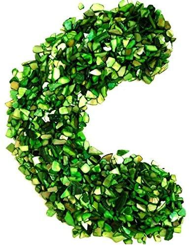 Beutique Shell Crushed Shells Chips Bulk Natural Colorful - for DIY,Weddings, Vase Filler, Home Décor, and Crafts 18oz -Green …
