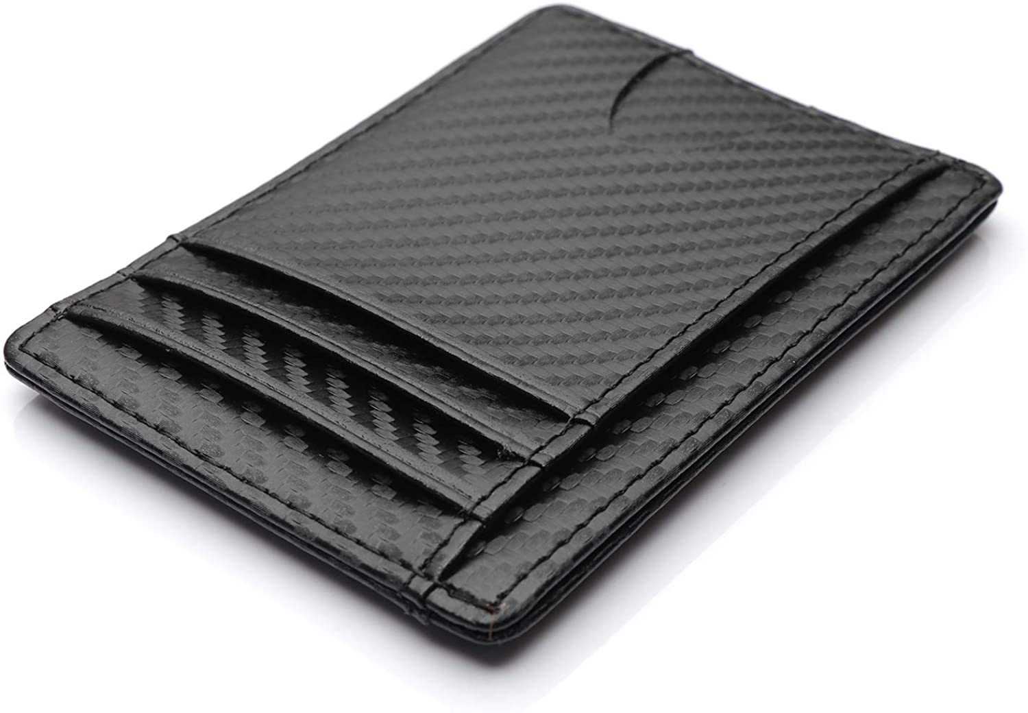 DeepRoar Business Card Cases Slim Leather Wallet with Large Pocket for Men Women