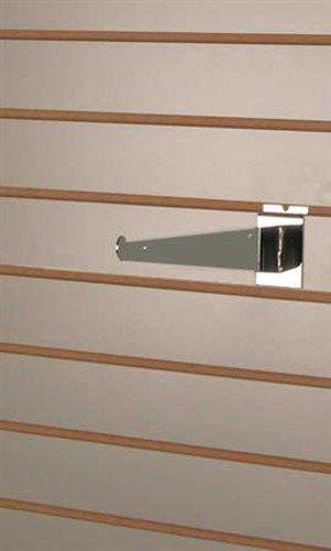 Slatwall Shelf Brackets in Chrome Finish 8 D Inches - Case of 8