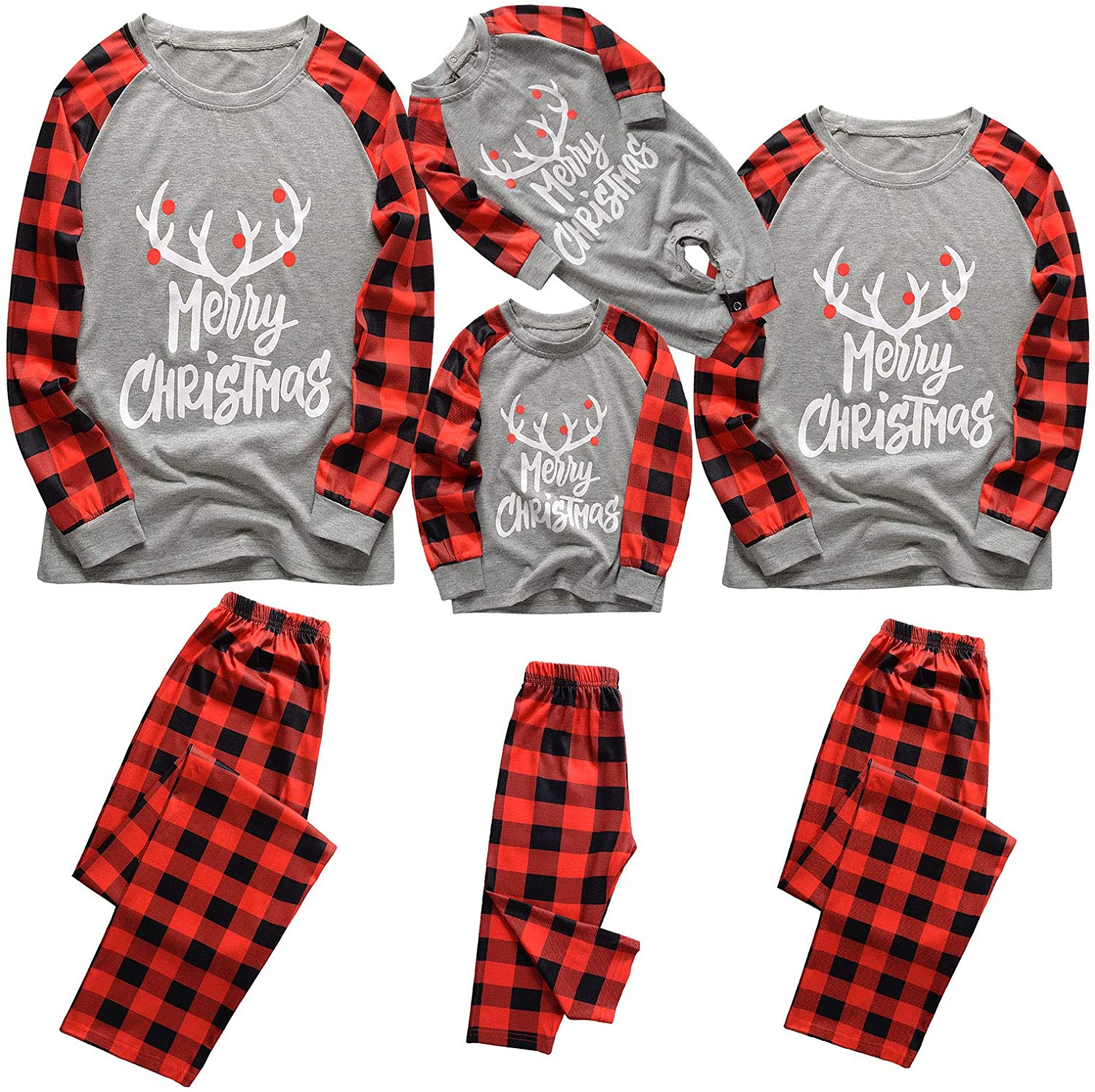 Unisex Family Matching Winter Holiday Christmas Pajama Collection
