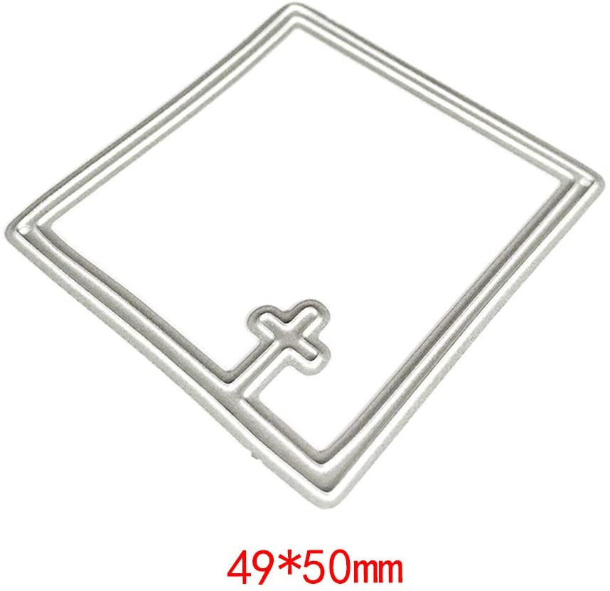 Hukai Cross Frame Metal Cutting Dies Stencil DIY Scrapbooking Album Stamp Paper Card Embossing Craft Decor,Good Gift for Your Kids to Cultivate Their Hands-on Ability