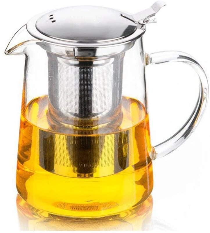 KFDQ Household Glass Kettle,Teapot Kettle Thicken Explosion-Proof Washable Kung-Fu Tea Pot Teapot Household Tea Strainer Filter Glass Teapot Tea Set 650Ml,a