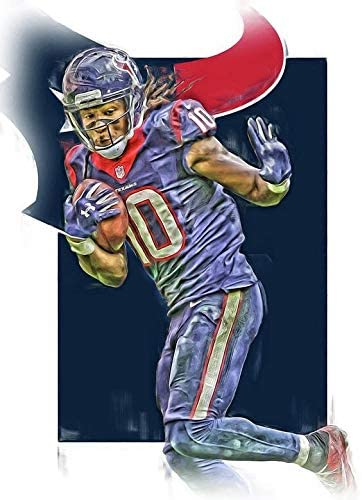 Deandre Hopkins Poster Print, American Football Player, Wall Art, Posters for Wall, Canvas Art, Deandre Hopkins Decor, No Frame Poster, Original Art Poster Gift, Artwork Size 24 x 32 Inches