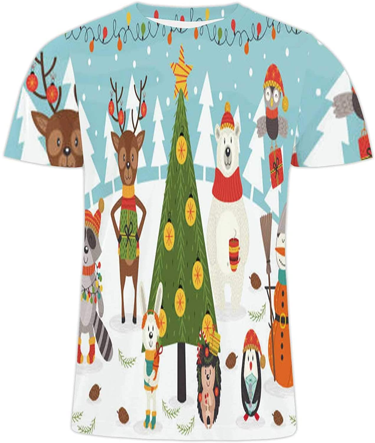Christmas Banner.Vector Hand Drawn - with Pine Cone,Premiun Tees - Stlish Print T-Shirts for Men/Women Evergreen M
