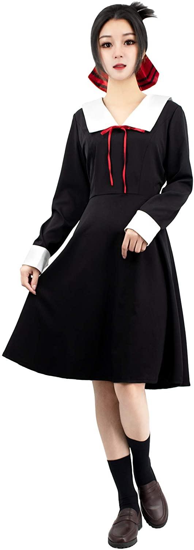 DAZCOS Womens Kaguya-sama: Love is War Kaguya Shinomiya Cosplay Costume