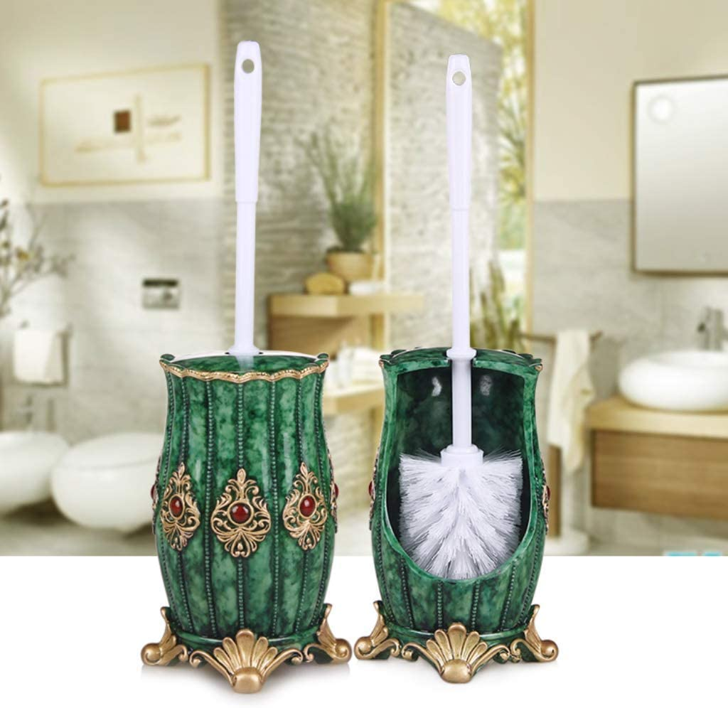 l.e.i. Toilet Brush Set Compact Toilet Brush Toilet Brushes and Holders Upgraded Toilet Brushes with Quick Dry Holder Set Compact Toilet Brush Sets Handmade by