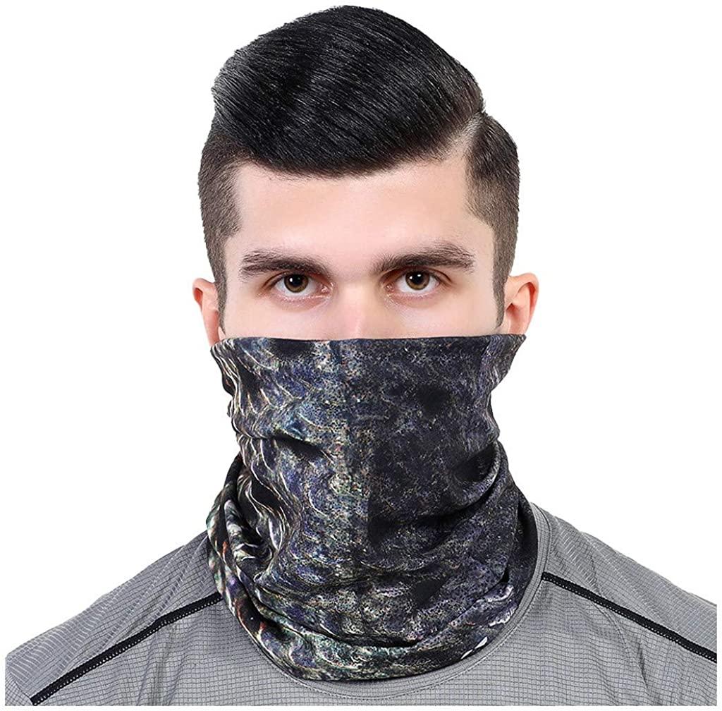 ZLOLIA Print Non Slip Seamless Dust Men & Women Face Mask for Outdoor Sports Neck Gaiter Cover Scarf Bandana