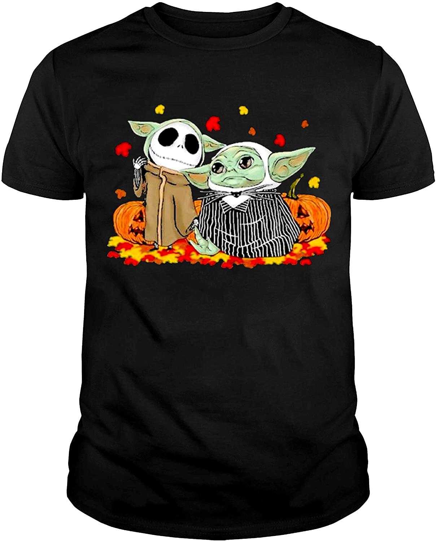 Baby-Yoda-and-Baby-Jack-Skellington-Pumpkin-Halloween-Shirt