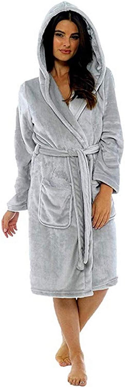 Women Winter Plush Lengthened Shawl Bathrobe Home Clothes Long Sleeved Robe Coat
