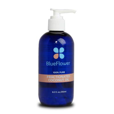 BlueFlower Fractioned Coconut Oil, All Natural Carrier, 8 Ounces