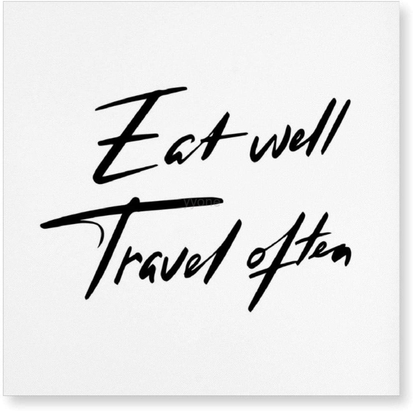 yyone Framed Canvas Printing Wall Décor Eat Well Travel Often, Hanging Canvas Art Print Home Decor for Living Room/Bed Room 8