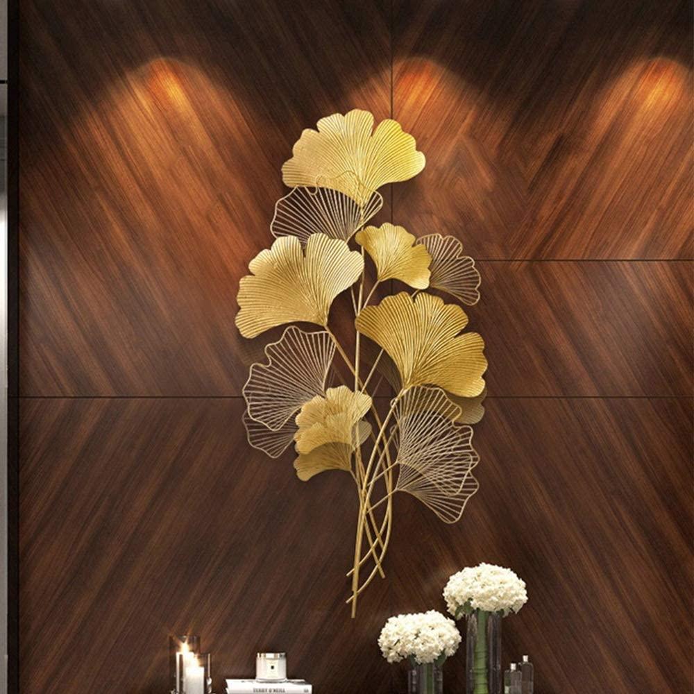 PUEEPDEE Wall Art Sculpture Metal Wall Art Decor Mural Decorative Home Wall Decoration Wall Decor Wallpaper Wrought Iron (Color : Gold, Size : 110x55x3cm)