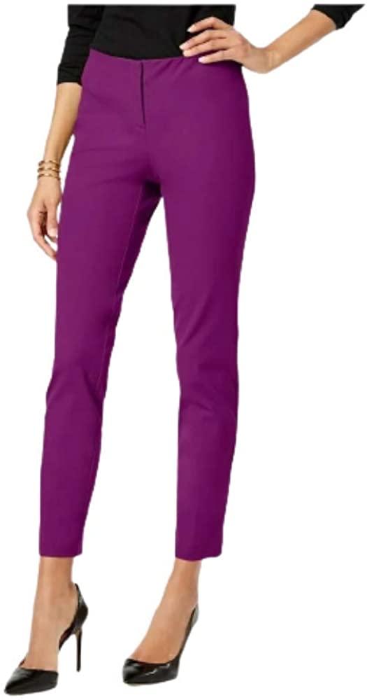 ALFANI. Womens Skinny Ankle Dress Pants Alf Fuschia 6