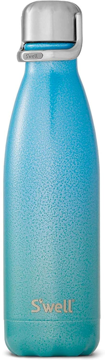 S'well Stainless Steel Water Bottle - 17 Fl Oz - Clio - Triple-Layered Vacuum-Insulated Containers Keeps Drinks Cold for 41 Hours and Hot for 18 - with No Condensation - BPA Free Water Bottle