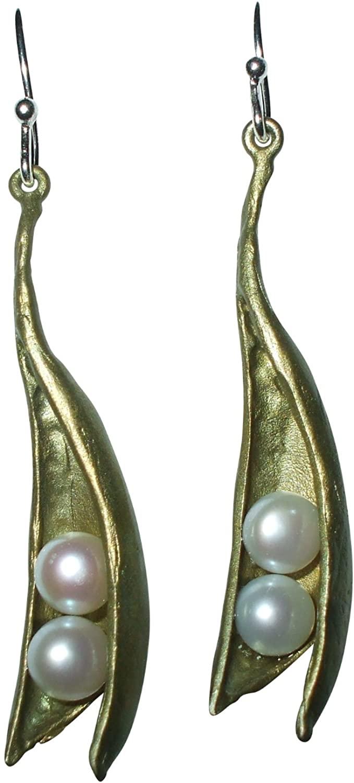Michael Michaud for Silver Seasons Pea Pod Drop Earrings 4496