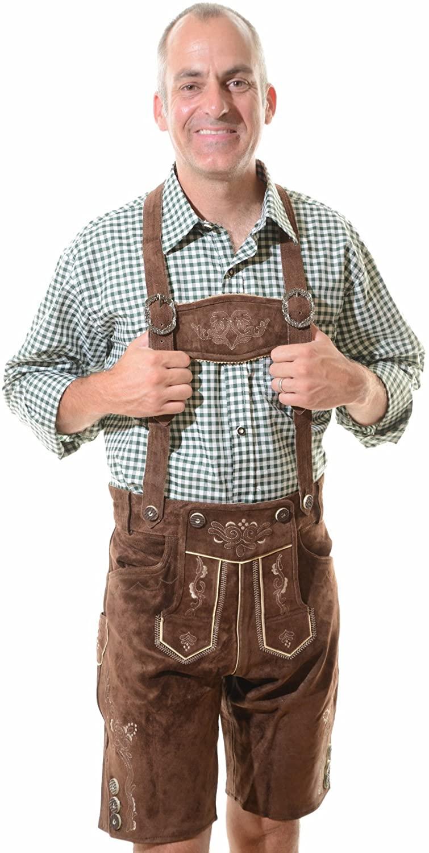 Lederhosen Costume Authentic Oktoberfest Lederhosen GEORG