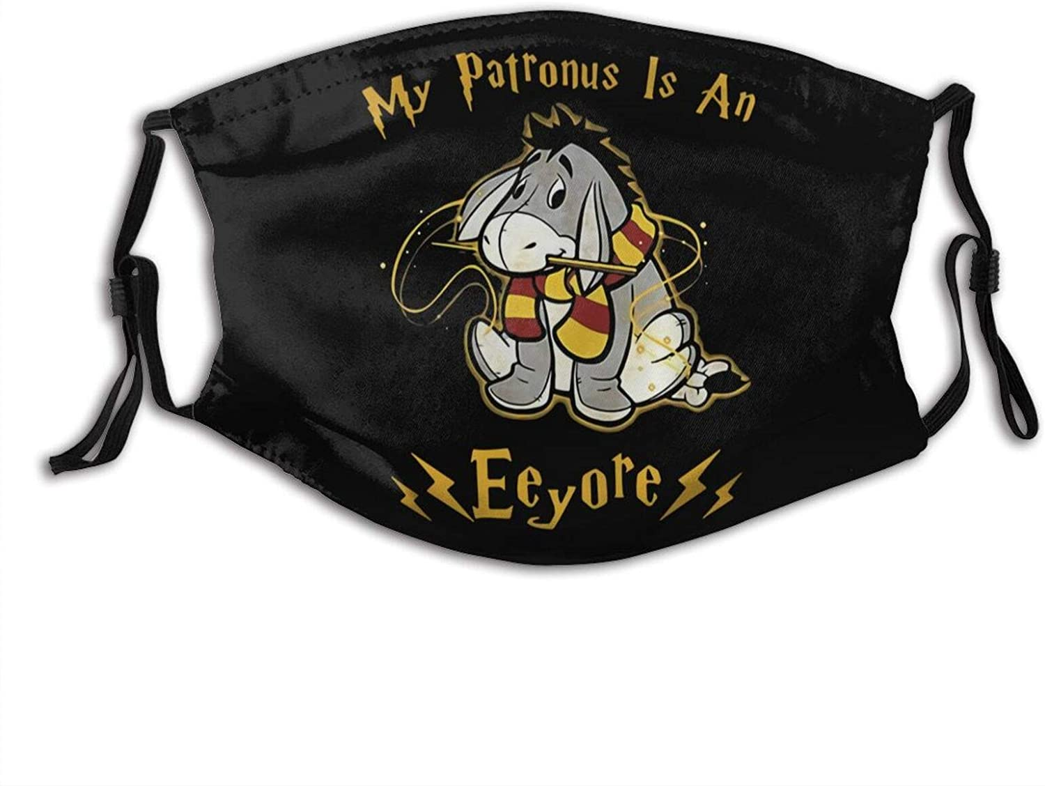 My Patronus Is An Eeyore Adjustable Unisex Reusable Face Mask Anti-Dust Masks Mouth Scarf Balaclava Face Protection For Outdoor With 2 Filters