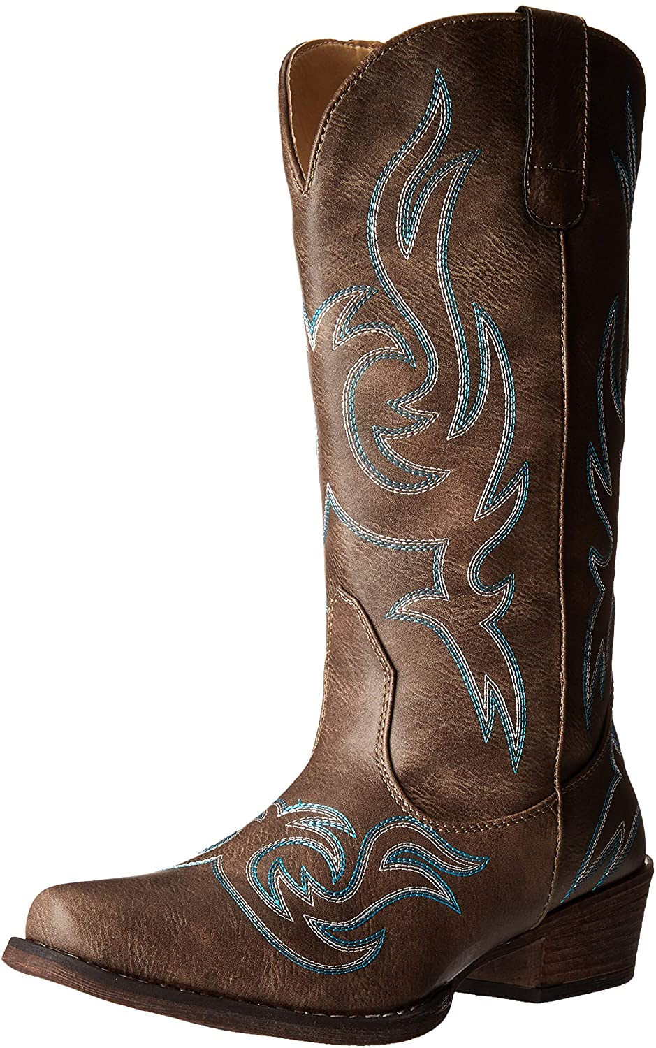 Womens Western Cowgirl Cowboy Boot, Reno Snip Square Toe by Silver Canyon