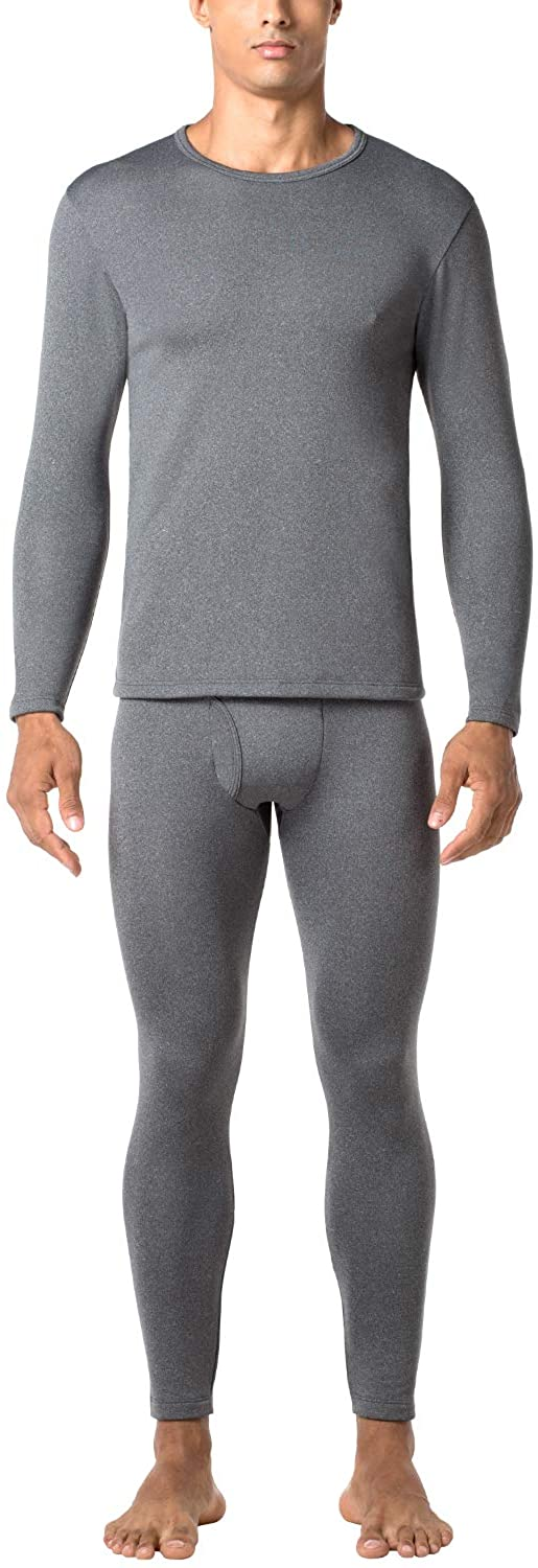 LAPASA Men's Heavyweight Thermal Underwear Long John Set Fleece Lined Base Layer Top and Bottom M24