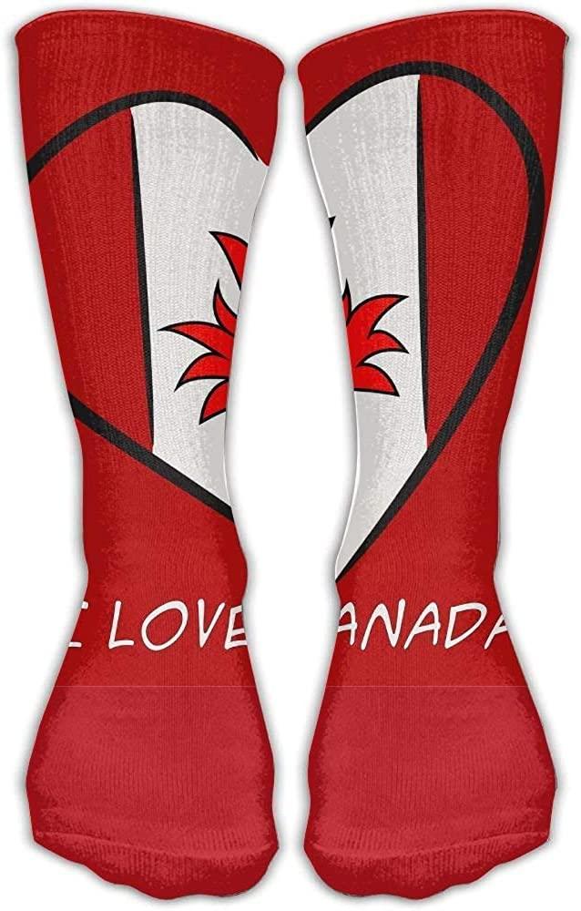 Design I Love Canada Stylish Art Boots Sock For Women &Girl