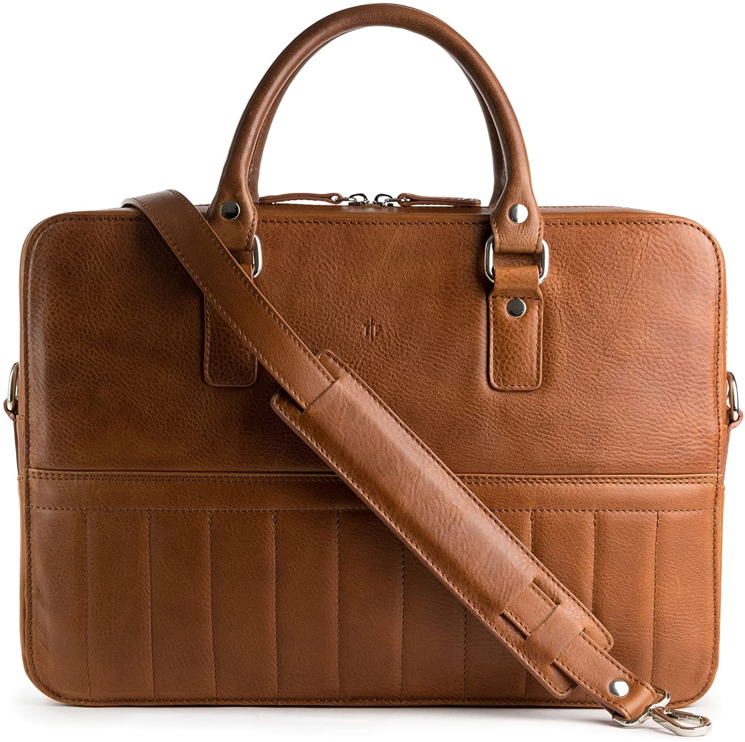 Urban Leather Bag - Free Minimalist Leather Wallet Included - 2in1 Messenger and Briefcase (Old School)