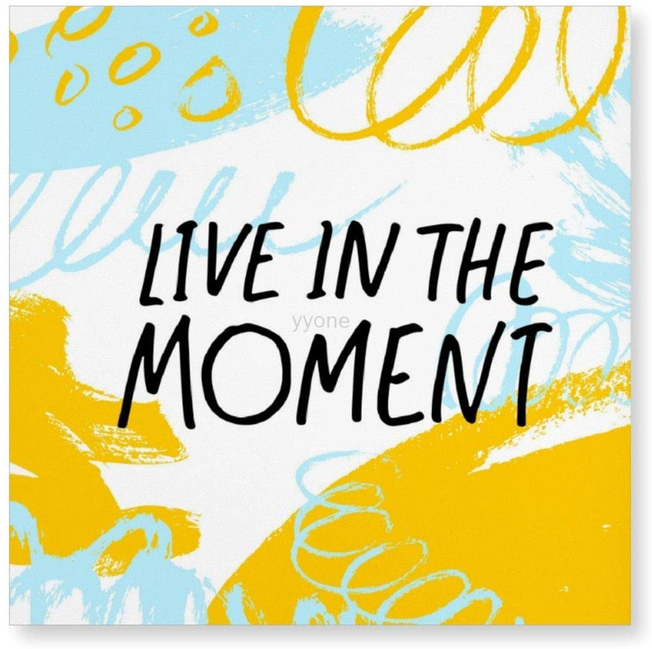 yyone Framed Canvas Printing Wall Décor Live in The Moment, Hanging Canvas Art Print Home Decor for Living Room/Bed Room 8